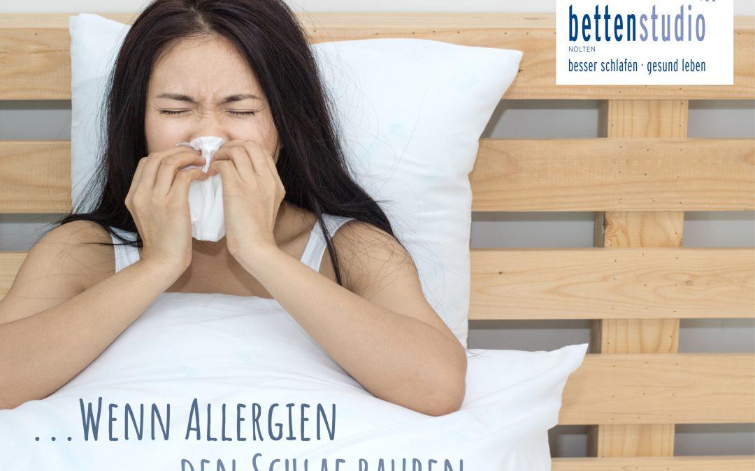 Wenn die Allergie den Schlaf stört